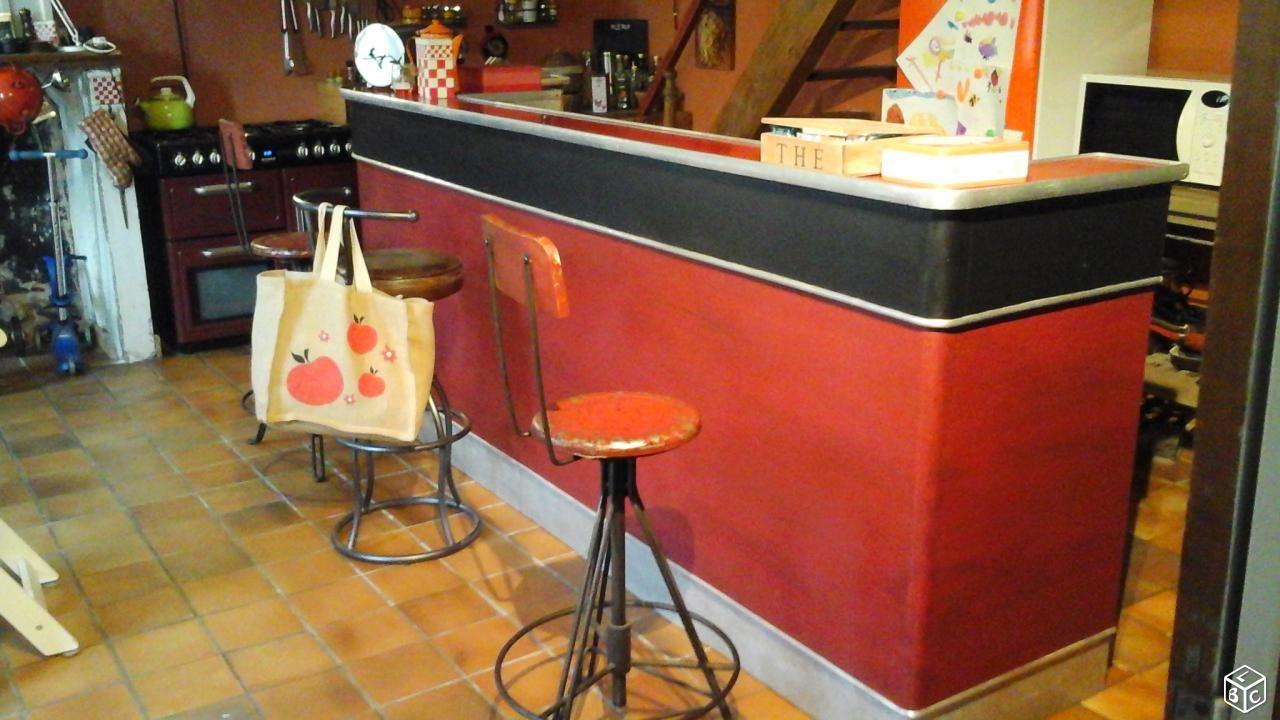 Comptoir De Bar Vintage Année 50 60 Ameublement Charente