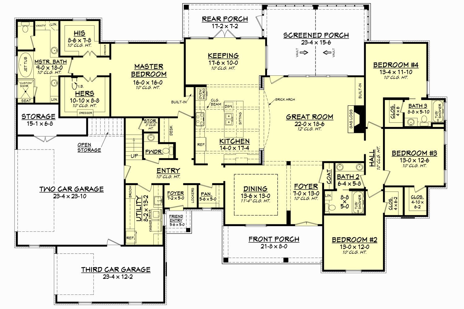 Backwater II House Plan | Flexibility, Ceilings and Future