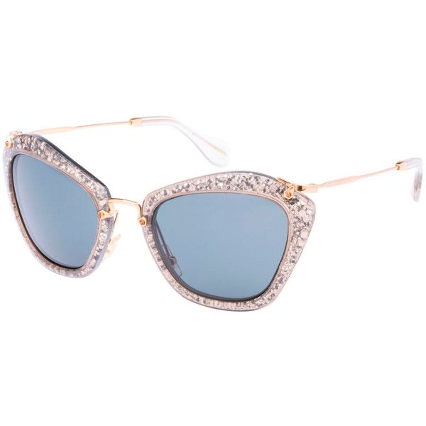 Love these sparkly Noir sunglasses by Miu Miu!