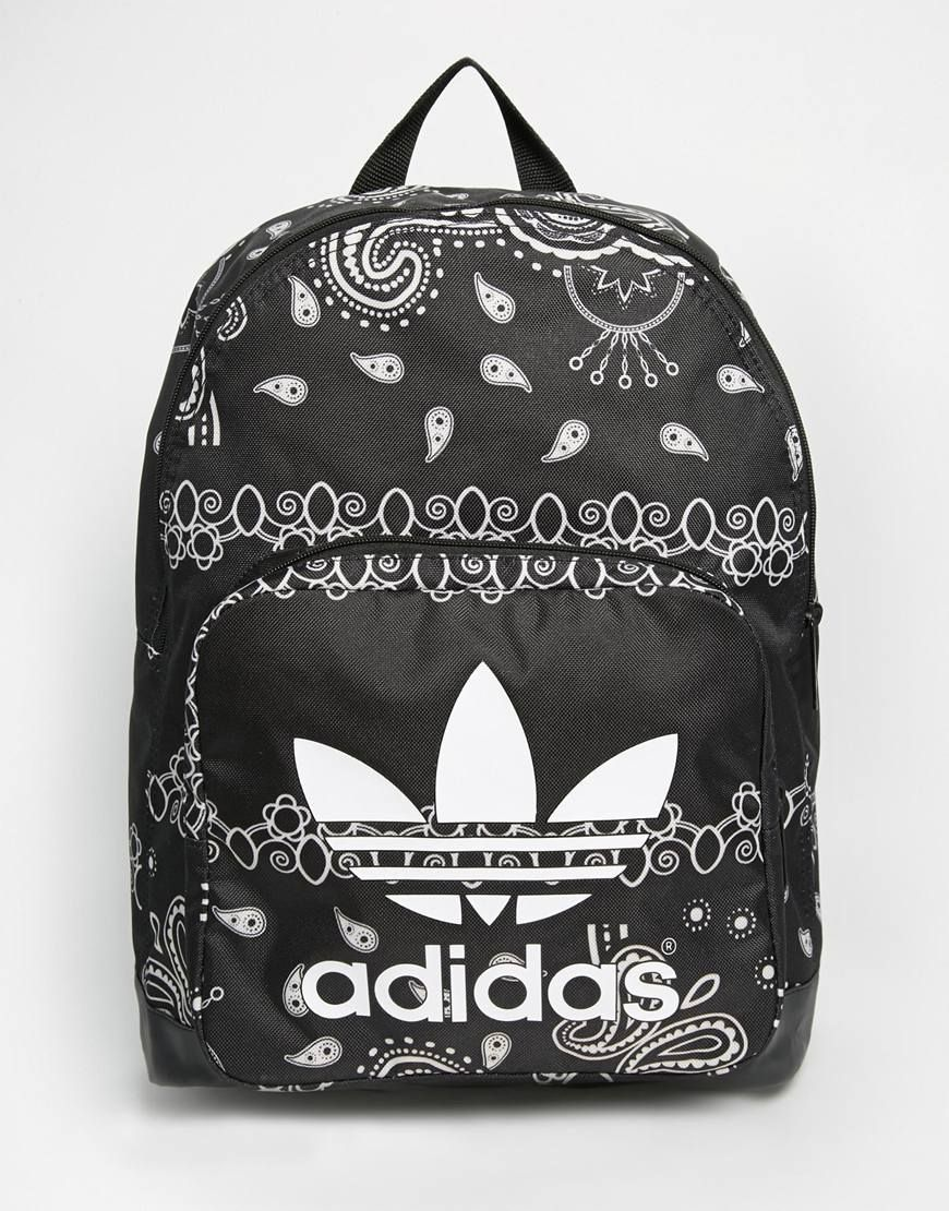 f70920a93498 Image 1 of adidas Originals Paisley Print Backpack