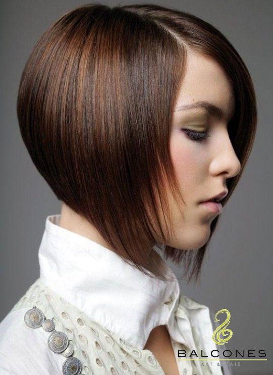 La Moda En Cabello Corto Es Que Termine Al Frente En Picos Y Es Muy Comodo Medium Hair Styles Hair Styles Bob Hairstyles