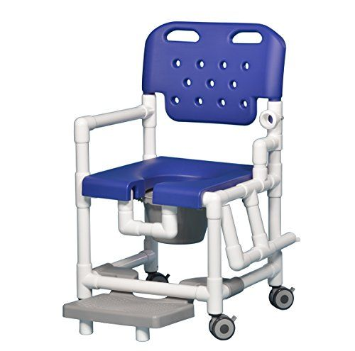Shower Commode Chair With Footrest And Left Drop Arm Just 21 Lb