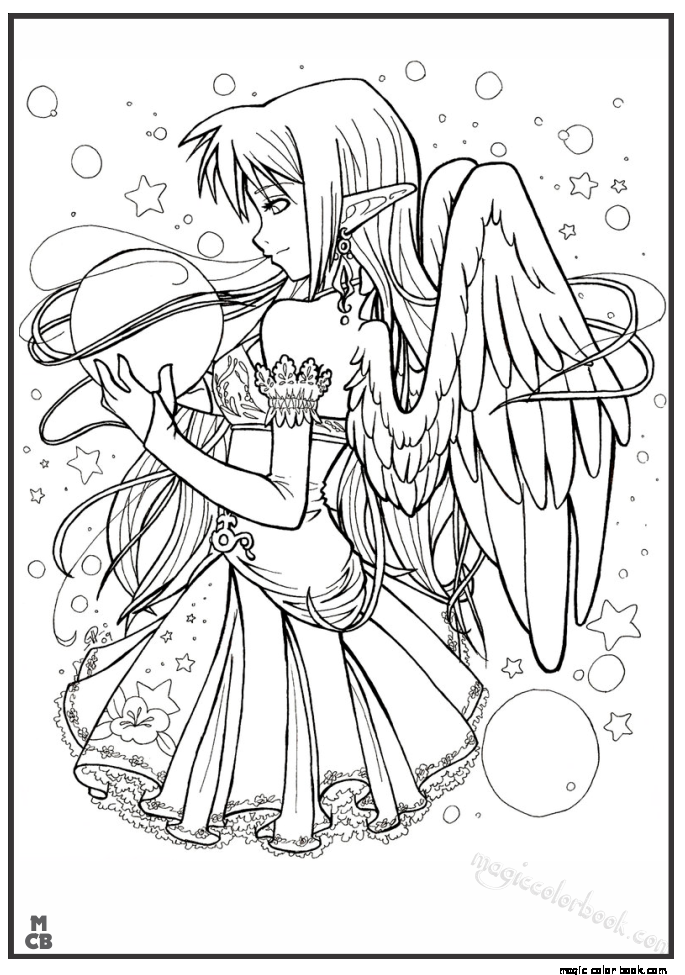Anime Coloring Pages Free Magic Color Book 14 Fairy Coloring Pages Chibi Coloring Pages Animal Coloring Pages