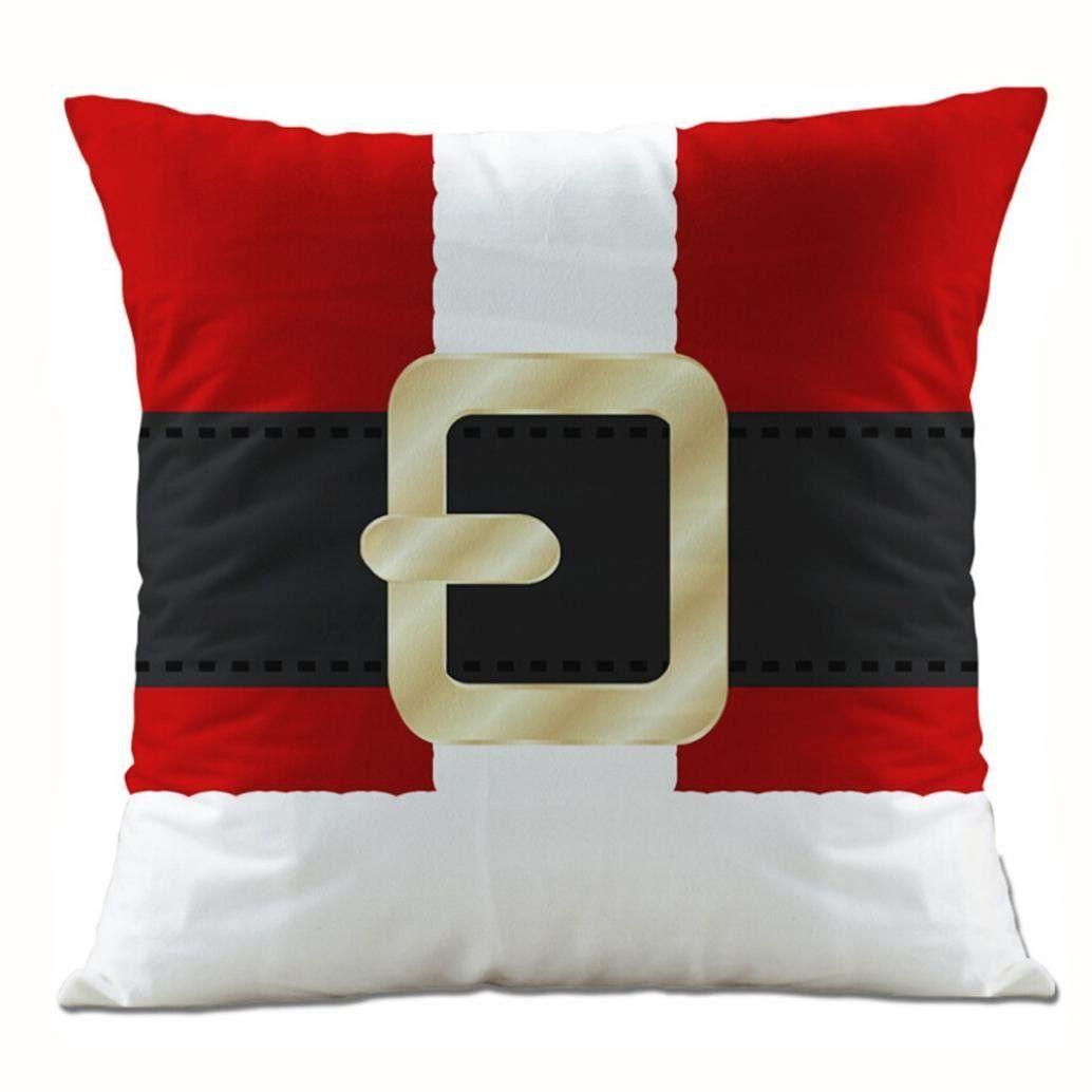 Amazon Com Clearance Super Soft Fabric Square Christmas Santa Claus Throw Cushion Cover Sofa Waist Almofadas De Natal Acessorios Artesanais Decoracao De Natal