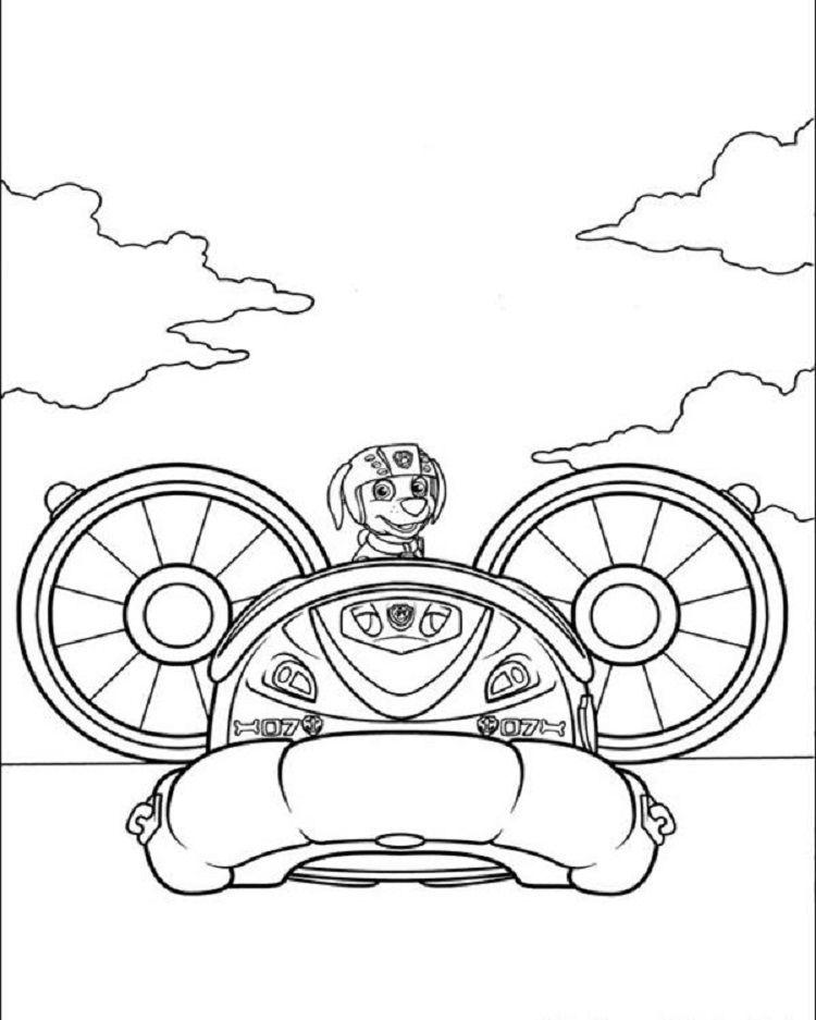 Speed Boat Paw Patrol Coloring Pages Cățeluși Jocuri