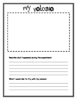 My Volcano Worksheet Volcano Worksheet Volcano Volcano Experiment