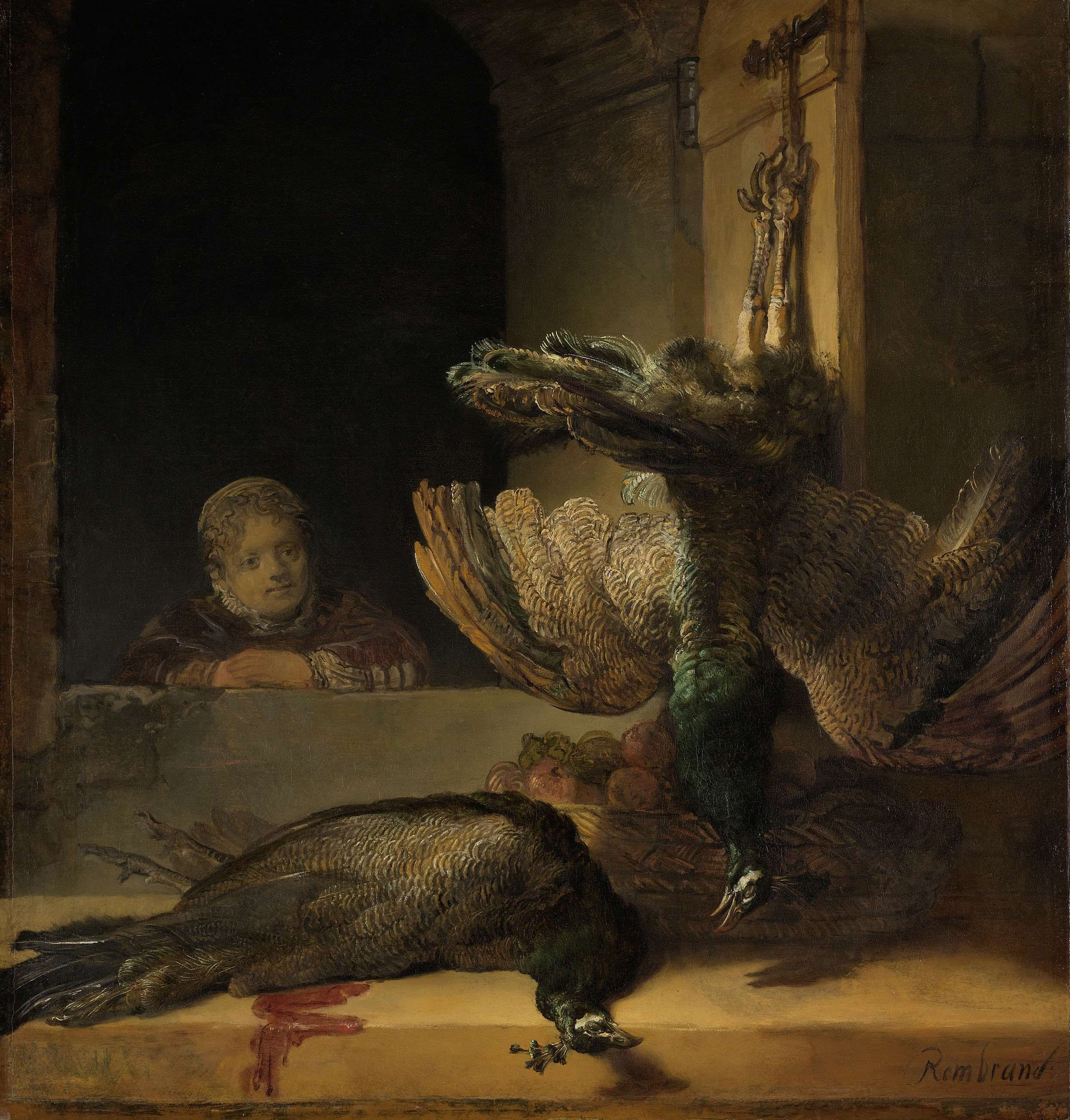 Still Life with Peacocks, Rembrandt Harmensz. van Rijn, ca. 1639