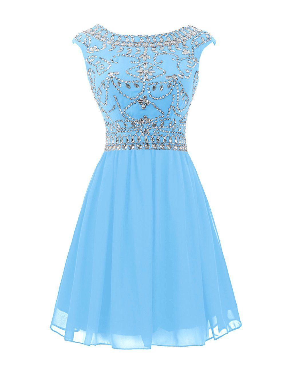 48659b36603 Wedtrend Women s Short Prom Dress with Beads Chiffon Cocktail Dress  Birthday Gown  Amazon Fashion