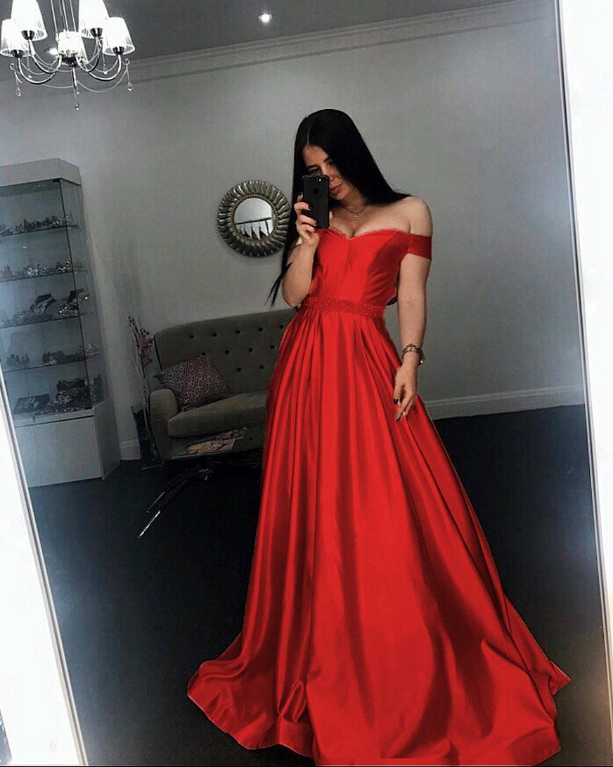 Long champagne v neck evening dress off shoulder prom gowns prom
