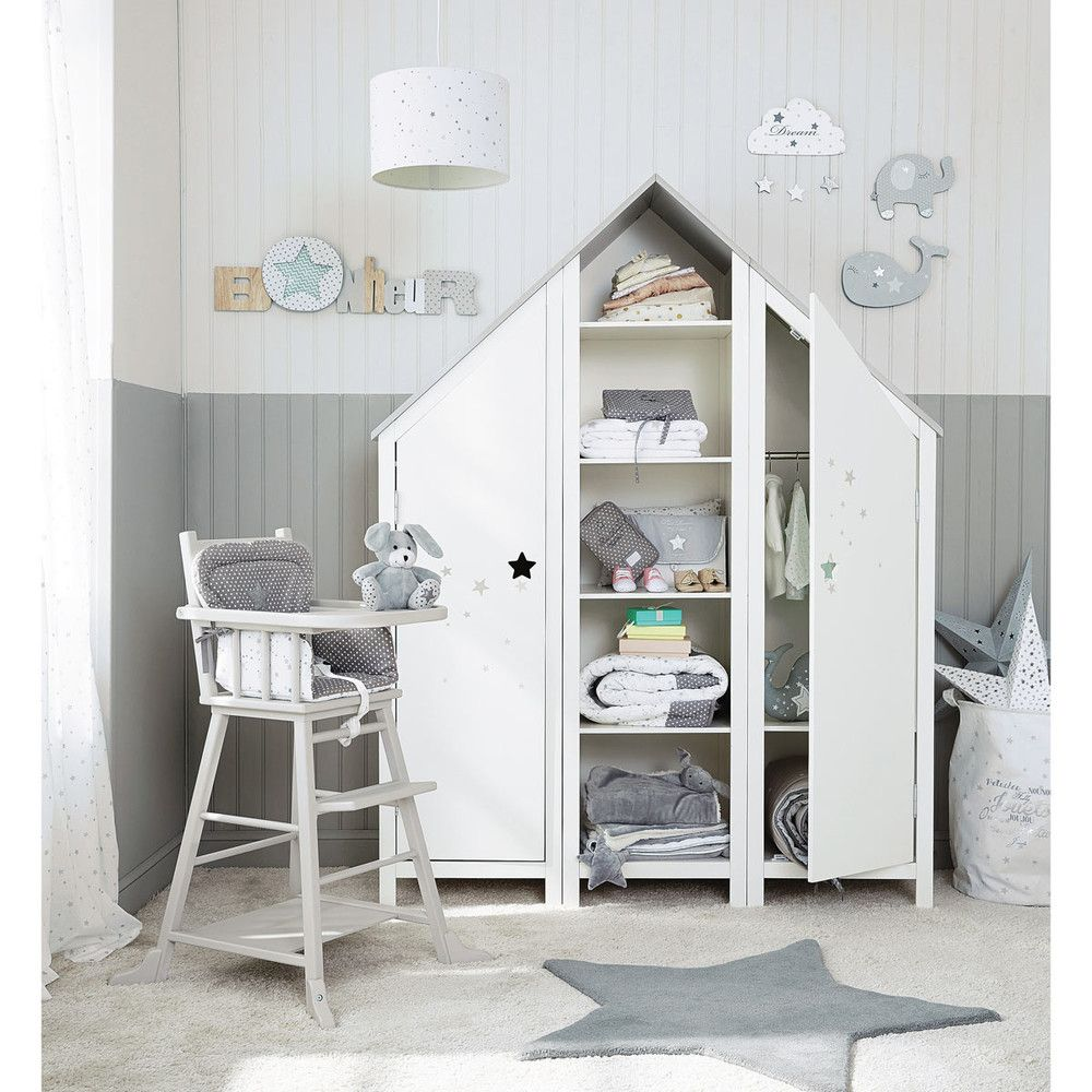 Wooden house bookcase in white w 45cm trending baby 39 s - Maison du monde uk ...