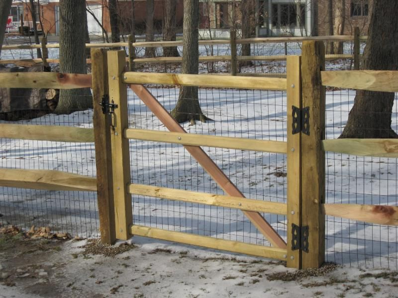 Split Rail Walk Gates And Double Drive Gates Fence Gates