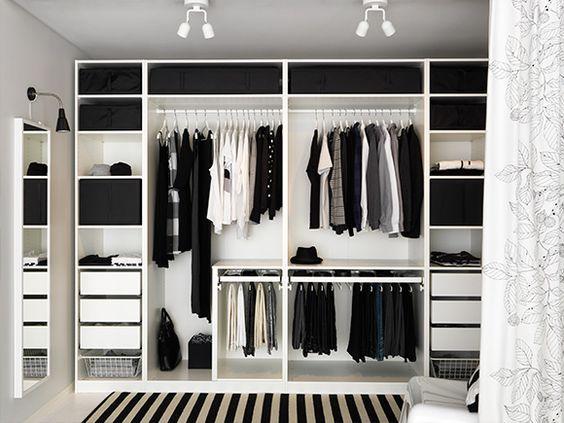 id e dressing pax ikea une tablette pour s parer les 2 parties penderies poser quelques. Black Bedroom Furniture Sets. Home Design Ideas