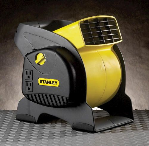 Stanley Blower Fan Pivoting Utility Fan With Grounded Outlets At