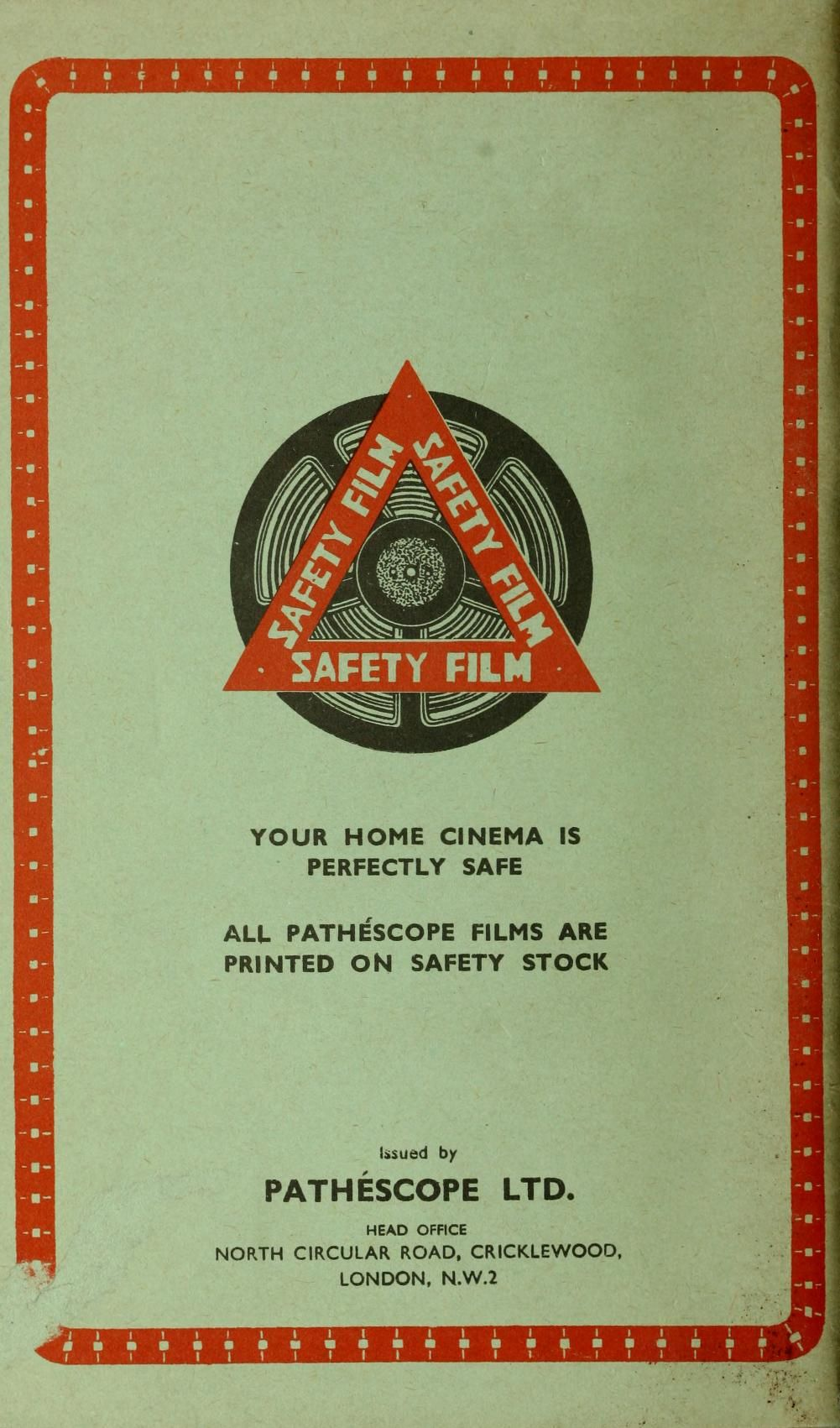 Pathéscope Film Catalogue 9.5mm