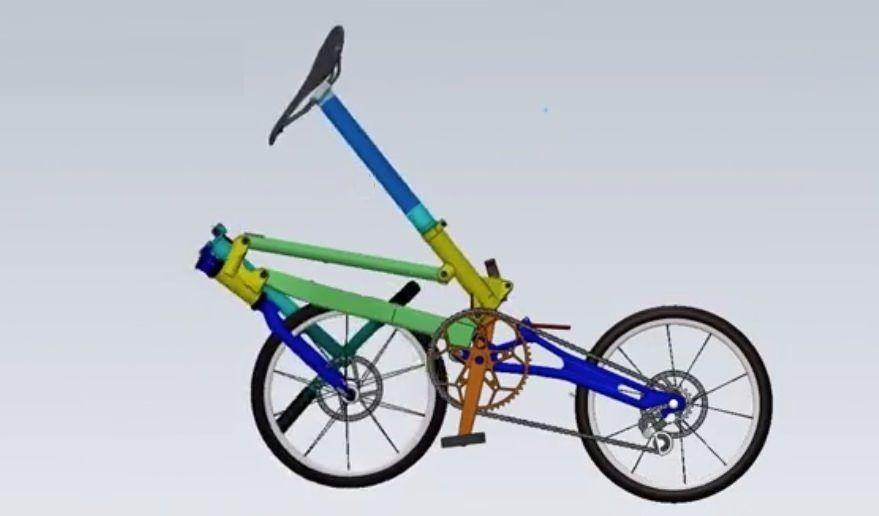 圧縮率の高い 折り畳みが可能な自転車 Su18 えん乗り 自転車 折り畳み自転車 電気自動車