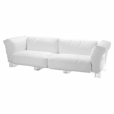 Photo of Kartell Pop Modular Couch Leg Shade: Clear, Upholstery Shade: Orange