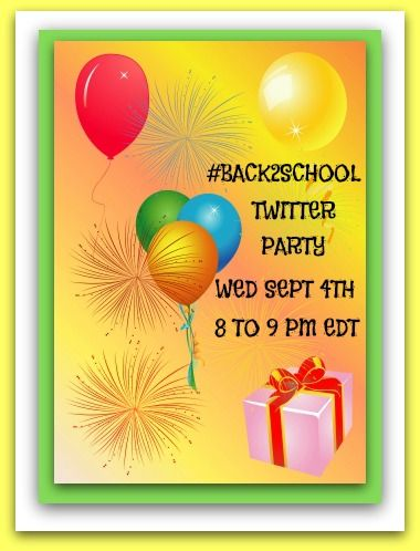 We are excited to be participating in a twitter party tomorrow night (8pm EDT)! Lots of great prizes to be won, including a School Package of labels & tags from us (@Oliver's Labels)!