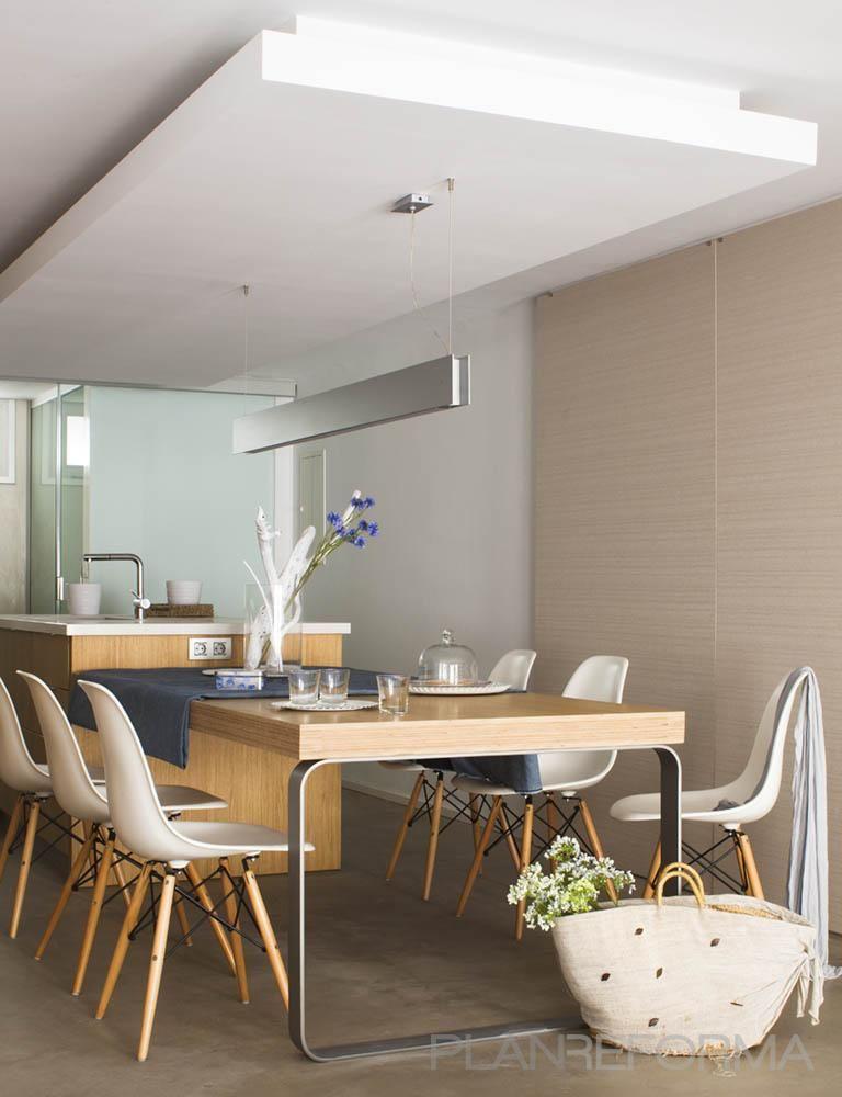 Comedor, cocina style contemporaneo color marron, beige, blanco ...