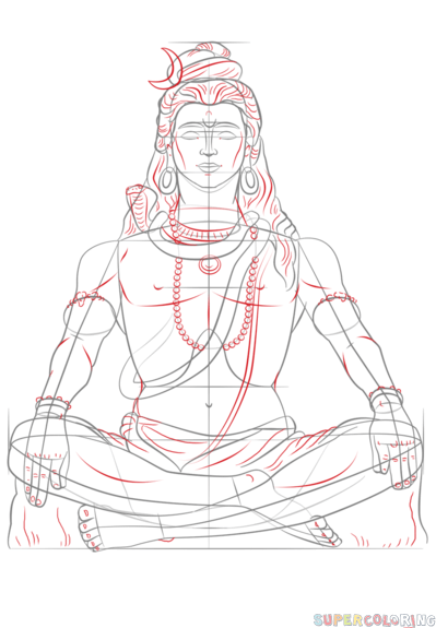 How To Draw Lord Shiva Step By Step Drawing Tutorials For Kids And Beginners Tattoo Art Drawings Art Drawings Lord Shiva Painting With these easy steps, you can begin crafting right now. how to draw lord shiva step by step