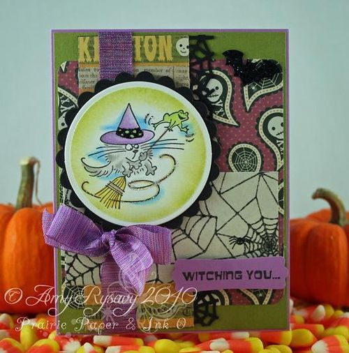 Stampendous Fluffles Witch Card by AmyR