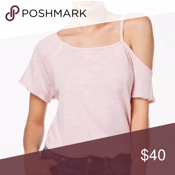 baed85d94850e1 Free People We the Free Pink Cold Shoulder Large NWT Free People We the Free  Cold Shoulder Top, large, pink. Loose fit and casual. Free People Tops Tees  ...