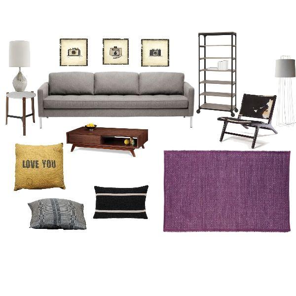 Room Reveal Purple And Grey Living Room: Living Room, Gray, Purple & Yellow