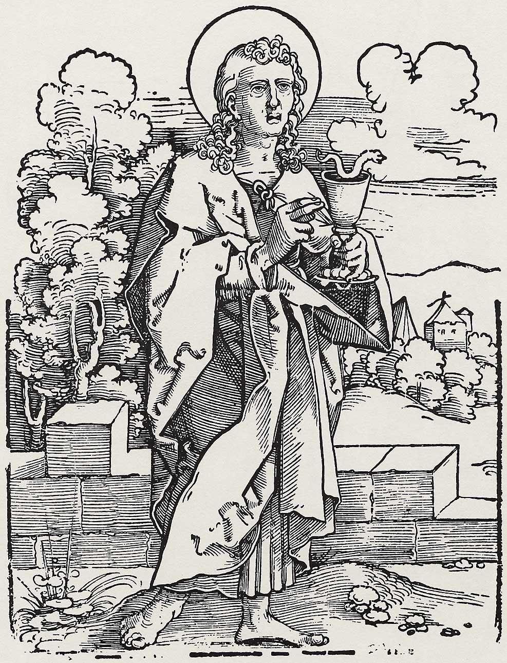 Beham, Hans Sebald: »Die Zwölf Apostel und Christus als Salvator mundi«, Hl. Johannes c.1530