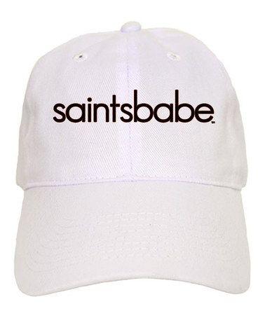 f14b7904 Take a look at this White 'Saints Babe' Baseball Cap by CafePress on  #zulily today!