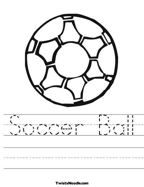 Soccer Ball 2 Worksheet From TwistyNoodle