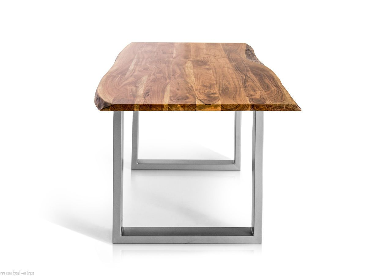 ATHEN Esstisch 160x90 Cm Mit Baumkante Massivholztisch Tisch Holz Akazie  Massiv In Möbel U0026 Wohnen, Möbel, Tische | EBay | Stoły | Pinterest