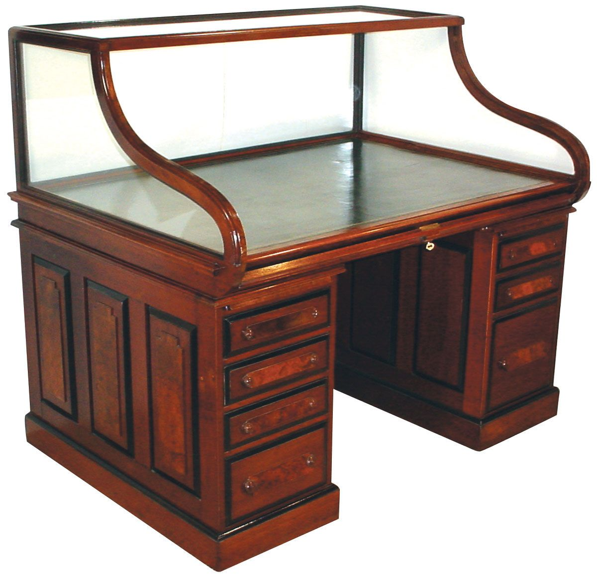 RARE CUTLER & SON GLASS TOPPED DESK 2898 - Rare Cutler & Son Glass Topped Desk 2898 Glass Top Desk, Desks And