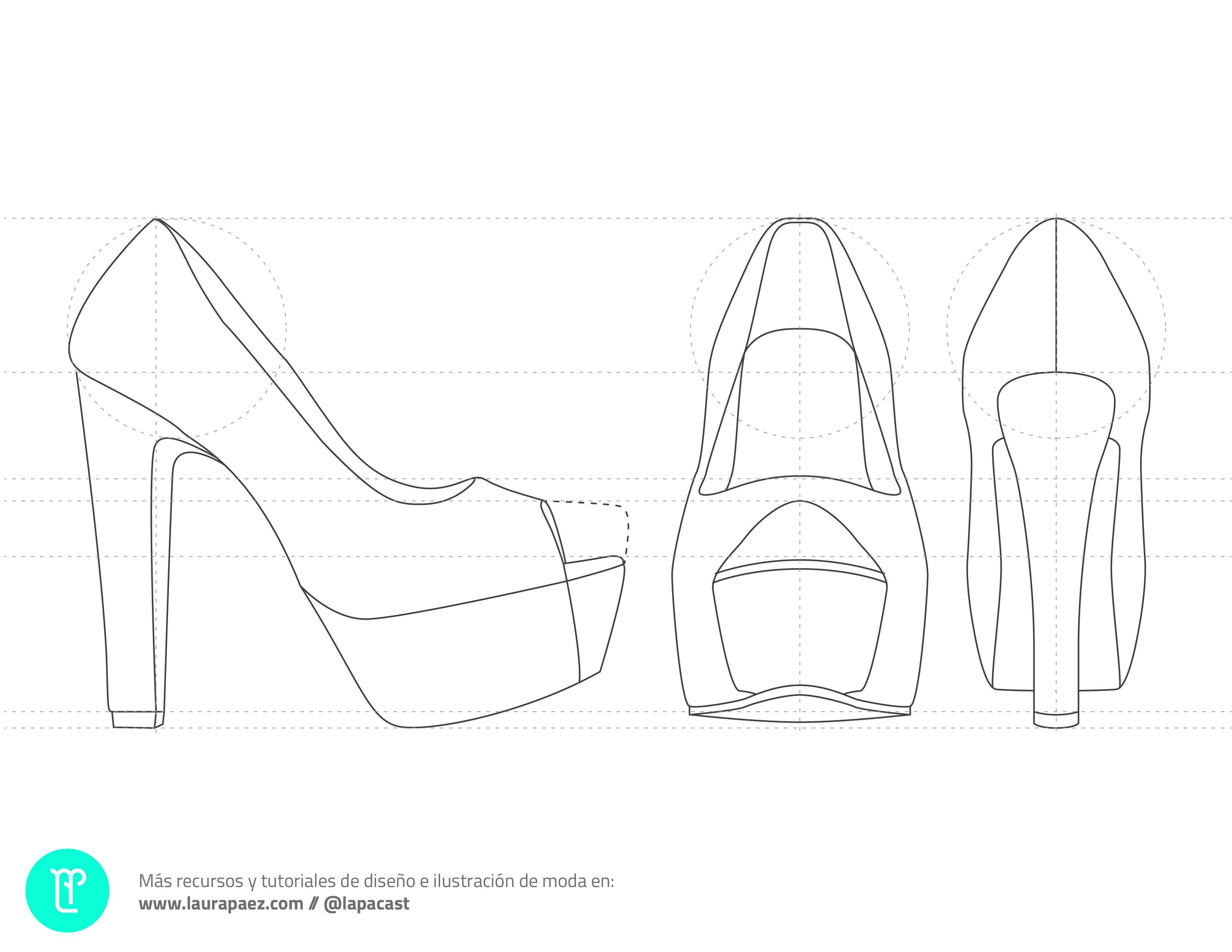 Descarga plantilla tacones de plataforma   Fashion illustrations ...