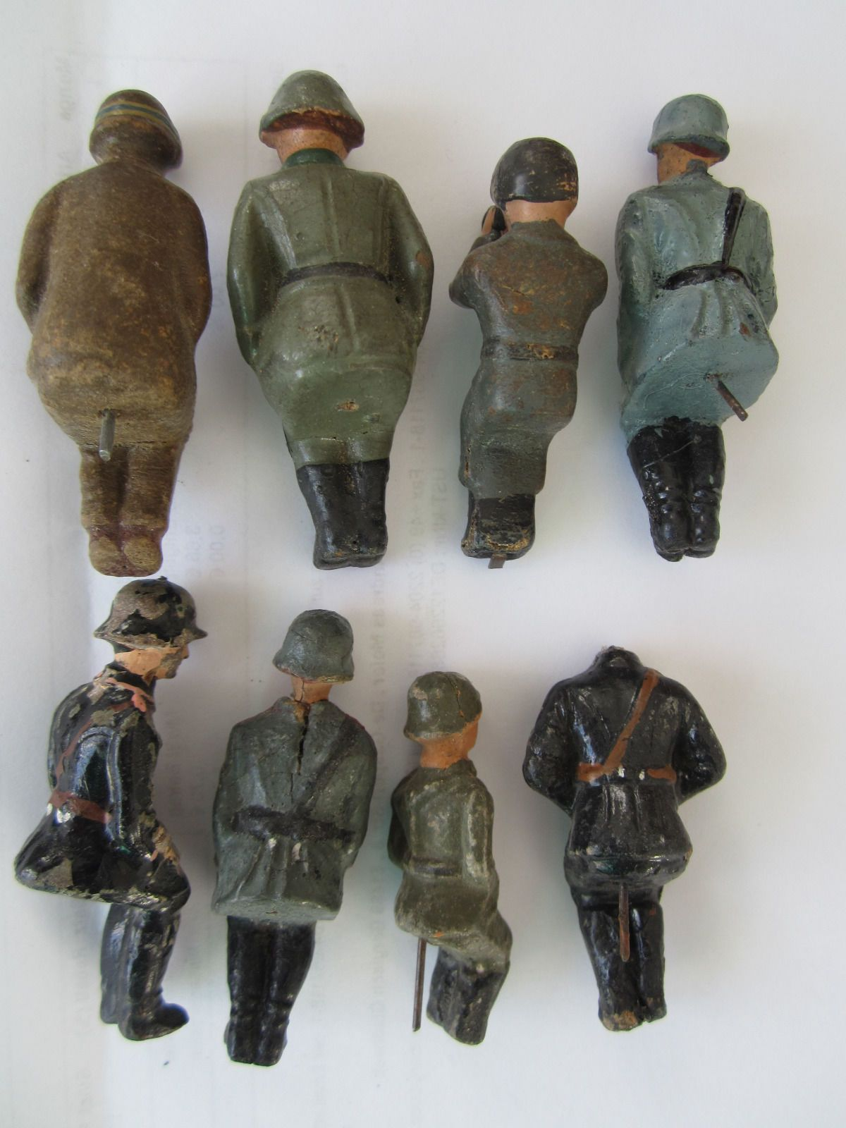 Massesoldaten sitzend Elastolin und Lineol (*** TOP ***) 7,5 cm-Serie | eBay