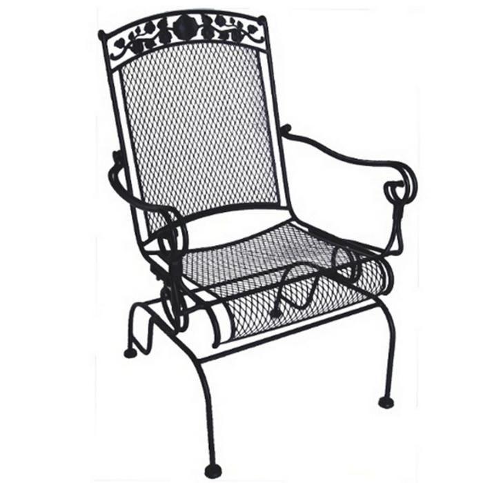 Beau Wrought Iron Patio Rocker Chair