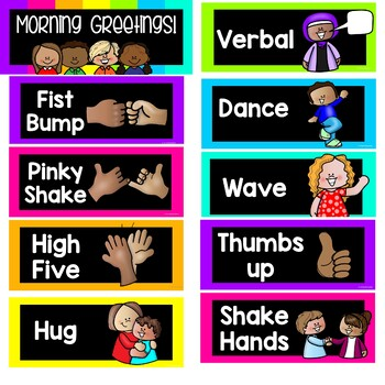 Class Greeting Cards Neon No Contact Options Distance Learning