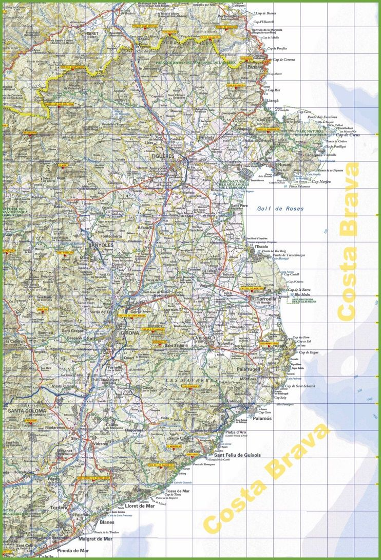 Costa Brava tourist map Maps Pinterest Tourist map and Spain