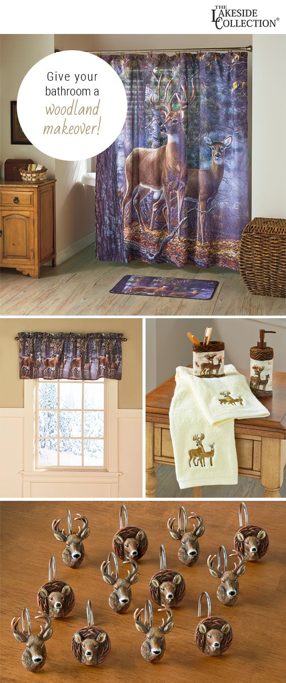 Cold Snap Deer Bathroom Collection Rustic Decor