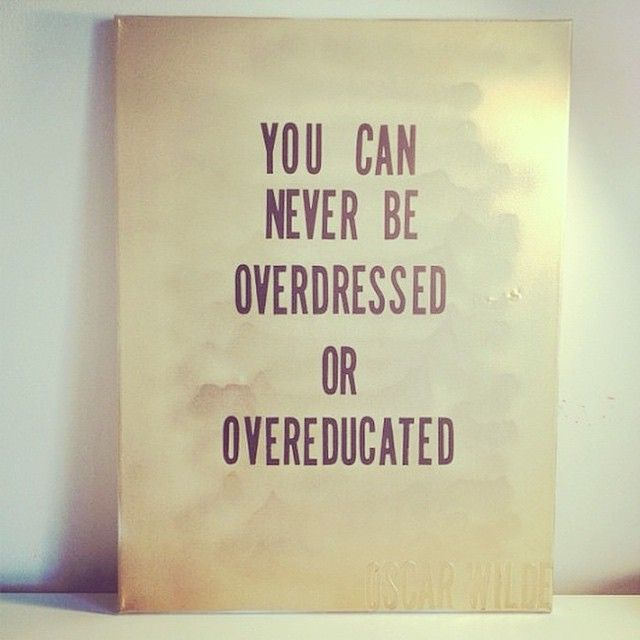 """""""You can never be overdressed or overeducated."""" #BellaNYCMag #BellaLIMag #NYC #ManicMonday #fashionquotes #quotes #city #citylife #citygirl #workflow #love #instagood"""