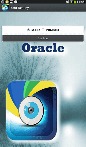 """Totally free and easy-to-use app that will give you an instant answers to some important subjects in your life..<p>Your Destiny Oracle will work for you without delay!<p>There are several subjects waiting for you to decide which is the one you want an answer to.<br>Let us take for an example the question: """"Does he love me?"""" the obvious answers are either Yes or No, but there are actually more, and Your Destiny Oracle will select the answer you should be considering as what the destiny sent…"""
