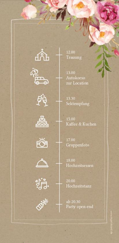 """Photo of Tagesablauf Hochzeit """"Flowers"""", DIN lang hoch"""