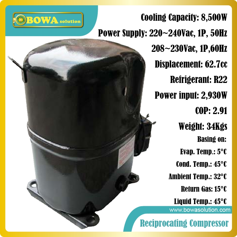 342.50 Know more Single phase, R22, 8.5KW cooling