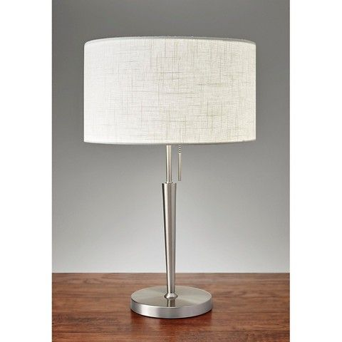 Charming Adesso Hayworth Table Lamp   Silver