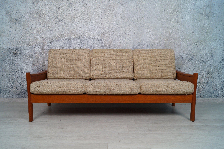 Danisches Teak 3 Sitzer Sofa Dyrlund 60er 70er Midcentury Couch Teak Sofa Mid Century Couch Couch