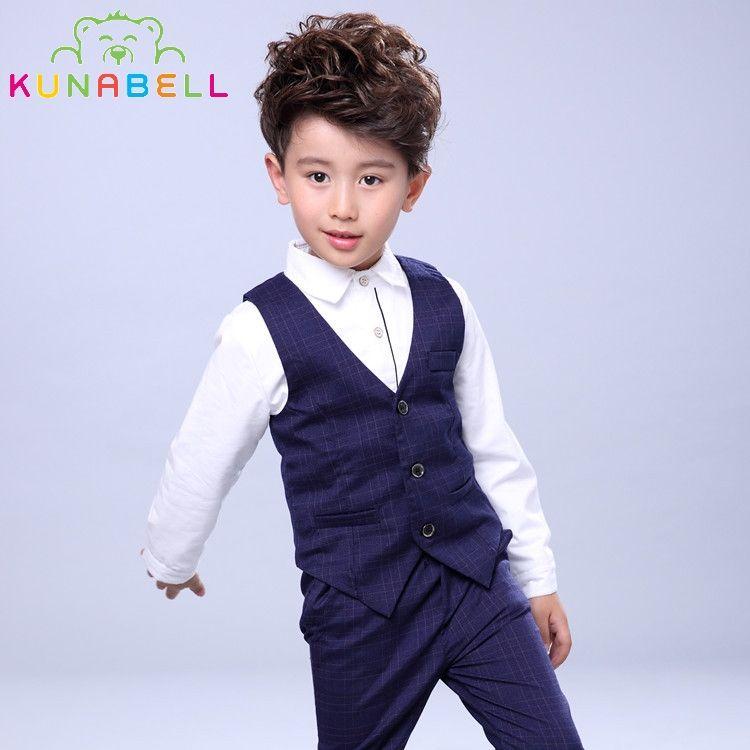 a2fa148d6 Baby Boys Birthday Dress Formal Suit Clothes Set Shirt Waistcoat ...