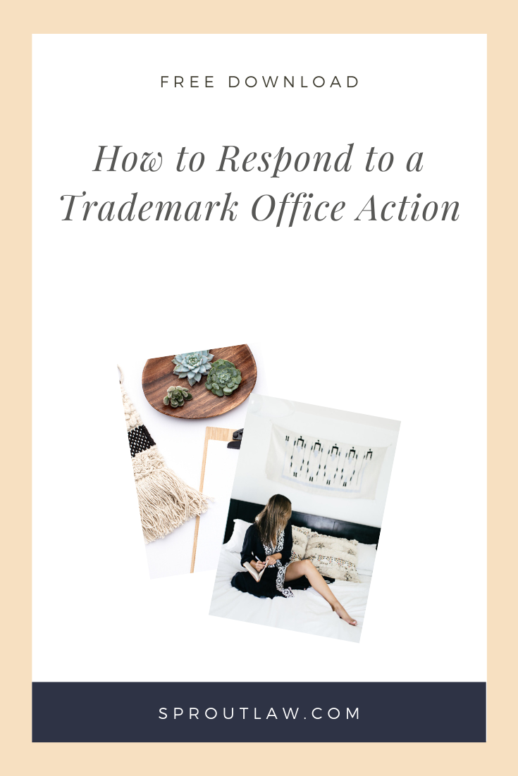How To Respond To A Trademark Office Action Sprout Law Business Advice Legal Business Advertising Terms