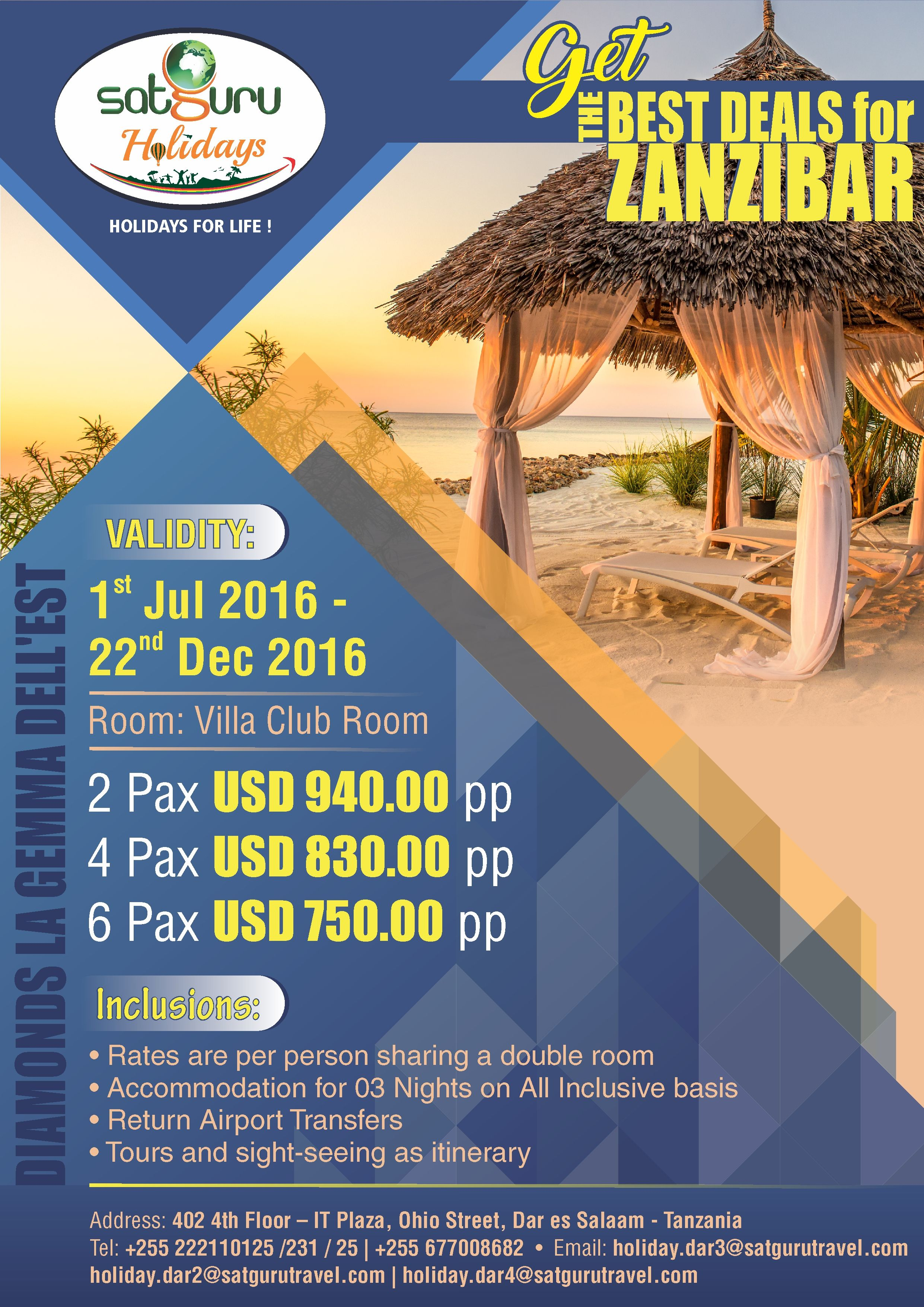 Avail exciting travel package deal to Zanzibar  Africa
