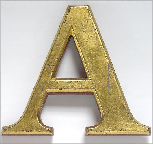 Gold And Red Pub Sign Letter A 20cm Pub Signs Vintage Walls Tap Room