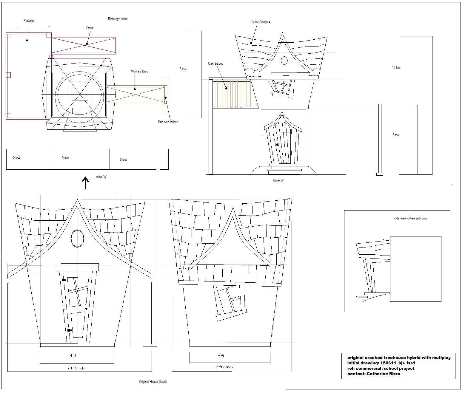 How To Build Crooked Playhouse Kits Plans Woodworking Log Dresser Plans Playhouse Kits Play Houses Kids Playhouse