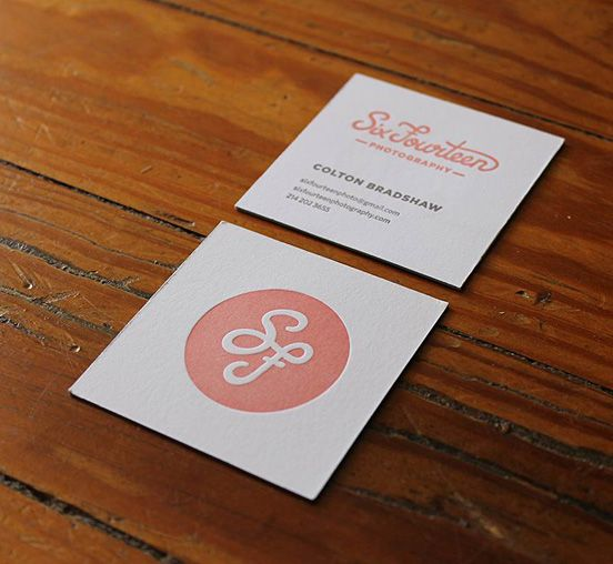 Letterpress Business Card - love the square and simple logo on - letterpress business card