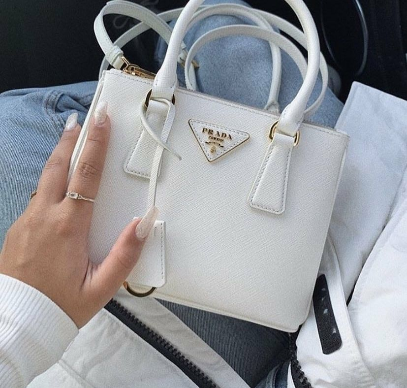 White Prada Bag In 2020 Luxury Bags Bags Fashion Bags